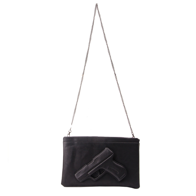 Brand Women's Messenger Bags Shoulder Handbags Fashion Clutches 3D Print Leather Pistol Bag Ladies Purses Designer High Quality