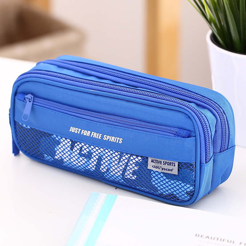 New High Quality  Large Capacity Multifunctional Canvas Pencil Cases Big Leather Pen Bags Box For Boys Girls School Stationery