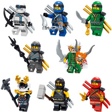 2018 NEW 8PCS Compatible LegoINGlys NinjagoINGlys Nya Lloyd Jay Zane Kai Cole Harumi Samurai X Model Building Blocks Figure Toys