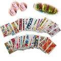 BlueZoo 50 Листов/уп Полное Покрытие Переноса Воды Цветок Ногтей Наклейки Красоты Обертывания Фольга Лак Для Ногтей Наклейки Водяной Знак стикер