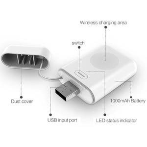 Image 3 - 1000mAh Charger Powerbank สำหรับ Apple Watch 1 2 3 4 MINI Power Bank สำหรับ iWatch 1 2 3 4 ภายนอกแบตเตอรี่ชาร์จ USB