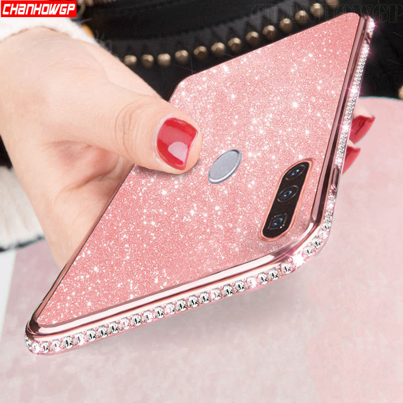 Luxury Crystal Diamond Silicone Case For Huawei P30 Pro P Smart Plus Z 2019 Honor 8A 8S 8X 10i 10 Lite 20 Y5 Y6 Y7 Y9 2019 Cover(China)