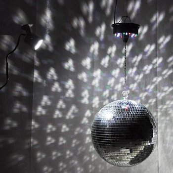 Big glass mirror Disco ball DJ KTV bars party stage light durable lighting Disco ball Reflective light glass mirror with disco b фото