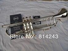 Marke Bach BB Trompete 180 S-43 die wenig Instrument Oberfläche Silber überzogene Professionelle Messing Instrumente BB Trompete mit Fall
