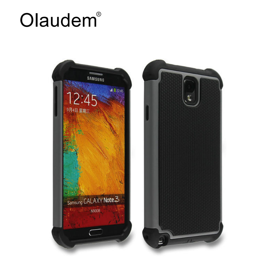 Nota 3 hybrid tough armor duro de tpu + pc phone case para samsung galaxy note 3