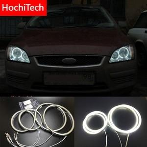 Image 1 - HochiTech для Ford Focus II Mk2 2004 2008, ультра яркий SMD белый светодиодный комплект с ангельскими глазками, 2600лм, кольцевой дневный ходовой светильник, DRL