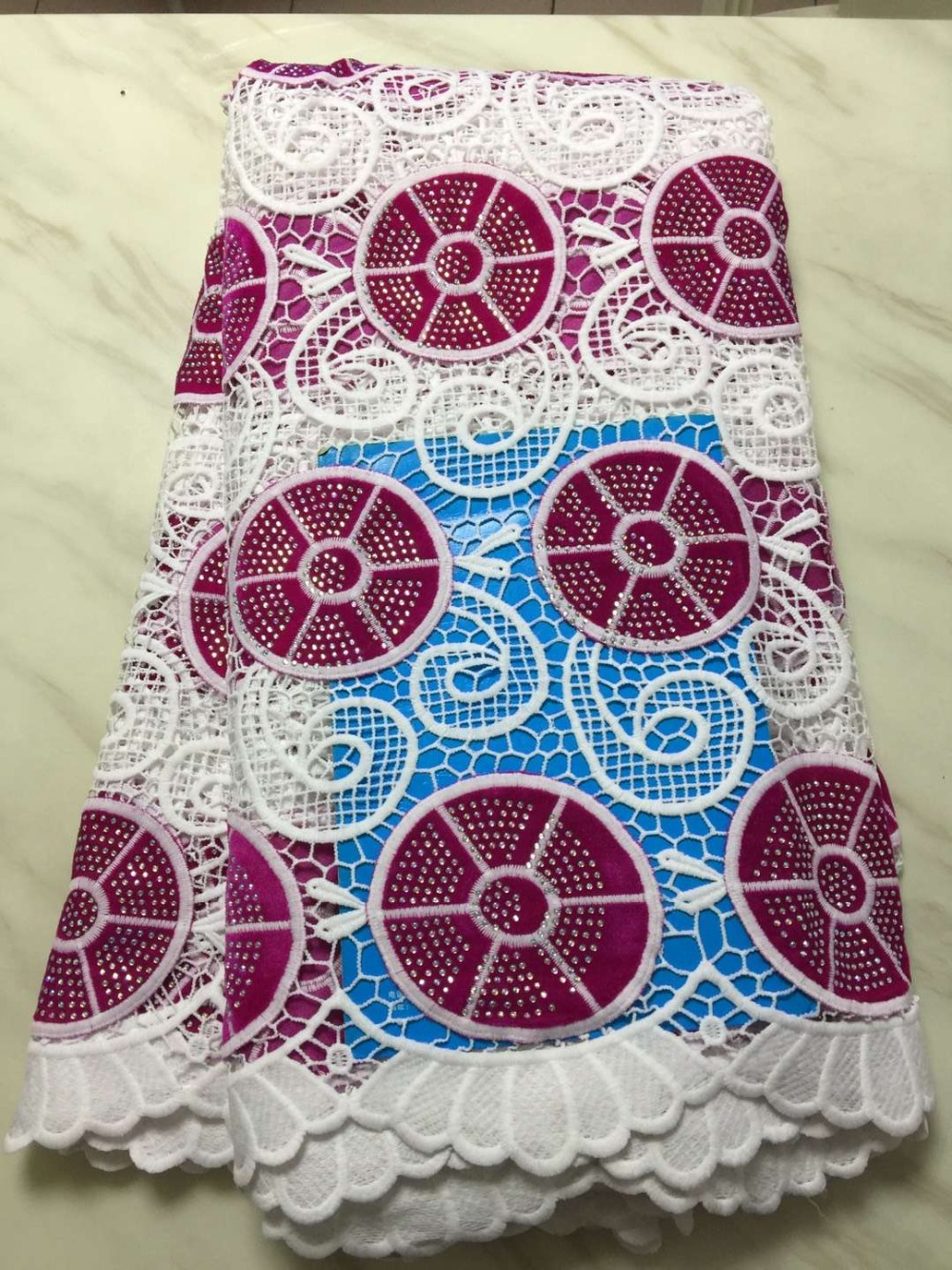 African Lace Fabrics 5yard  Guipure Lace Fabric 2019 High Quality Nigerian Cord Lace Fabric For Wedding Dresses f16JU04African Lace Fabrics 5yard  Guipure Lace Fabric 2019 High Quality Nigerian Cord Lace Fabric For Wedding Dresses f16JU04