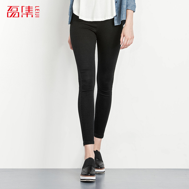 2016 Autumn 40-120KG Plus Size Women Jeans femme Elastic Mid Waist Leggings Skinny Jeans woman Cotton Capris Denim Pants