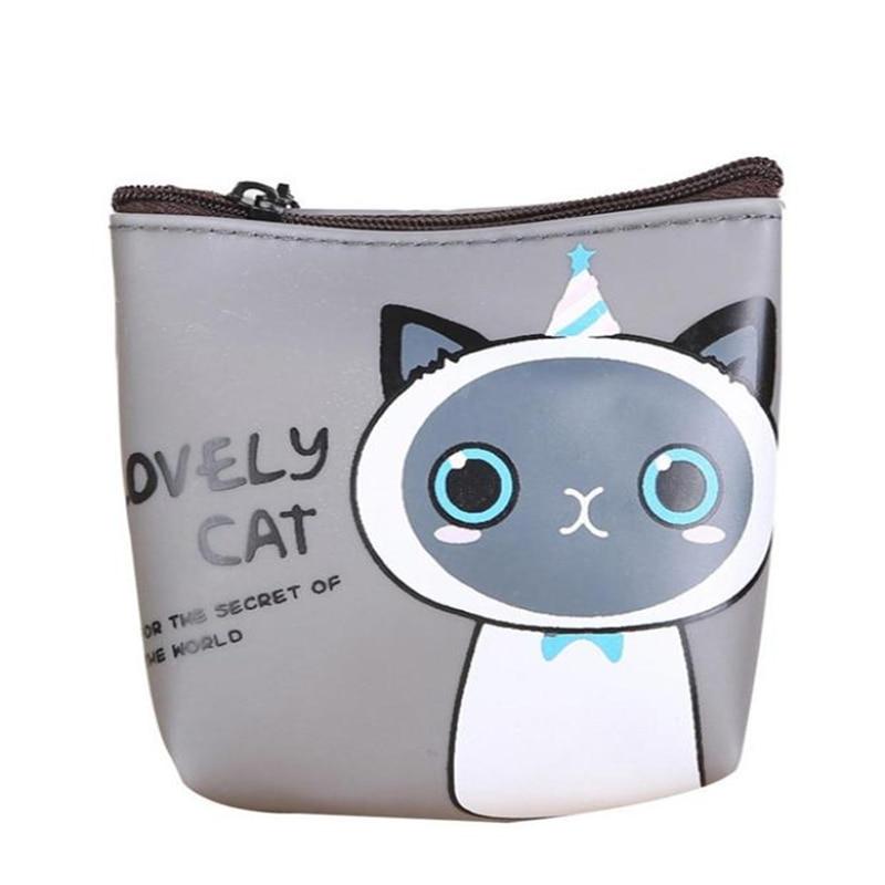Wallet female Coin Purse Women Girls Cute Cat Fashion Coin Purse Wallet Bag Change Pouch Key Holder purses and handbagsO0518#30