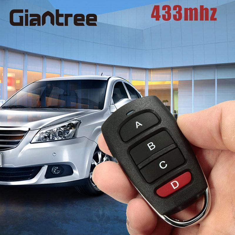 Giantree 433mhz Cloning Cloner Smart Electric Garage Door Car Remote Control Key Replacement Access Control Accessories