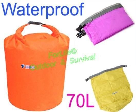Prix pour PSKOOK 70L Sac Étanche Dry pour Canoë Kayak Rafting Flottant Plongée De Natation Sacs Camping Voyage Kit