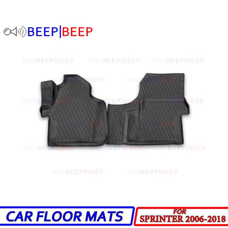For Mercedes Benz Sprinter 2006 2018 Car Floor Mats Carpets Auto