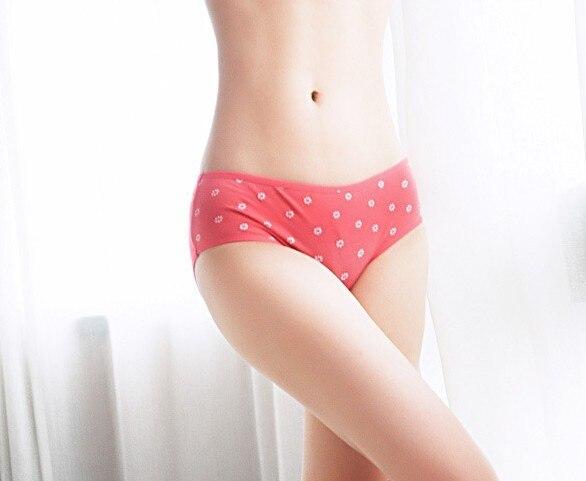 Cotton  medium waist menstrual period underpants Ladies Panties / Briefs  pants Women Underwear Multicolor Free Shipping
