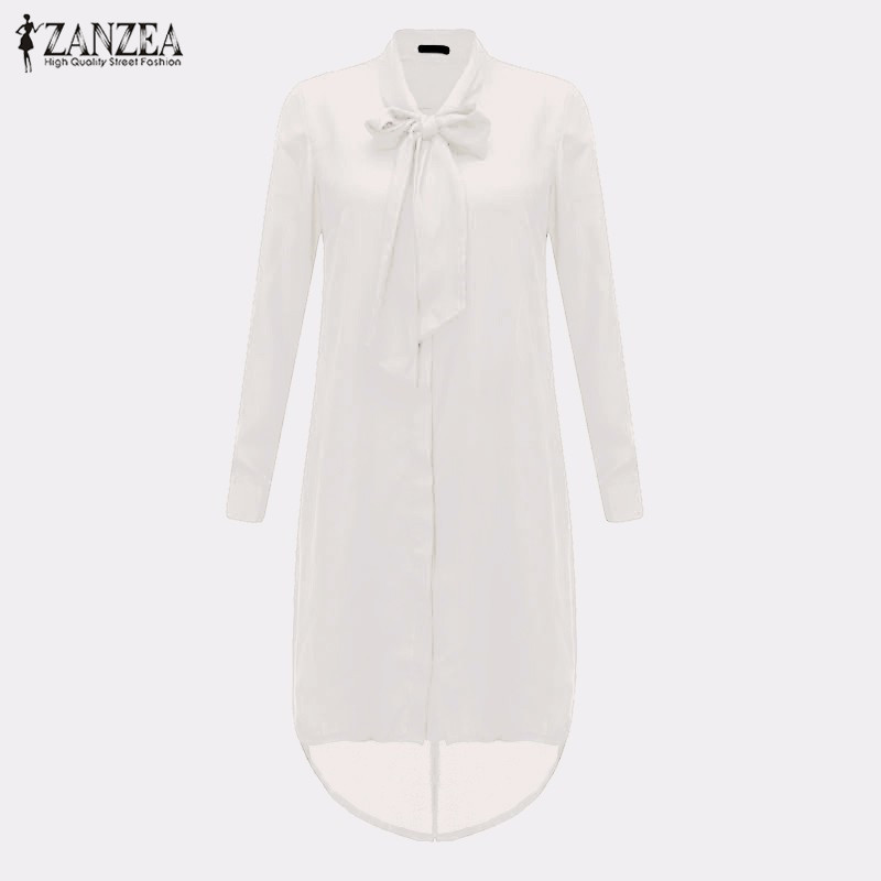 HTB1Gp9zLXXXXXaXXVXXq6xXFXXXx - Women Shirt Vestido Bow Long Sleeve Casual Amsymetircal Chiffon