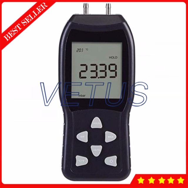 TL-103 High Precision Manometer gauge Portable Digital Piezometer with 0.29% accuracy Pressure tester meter