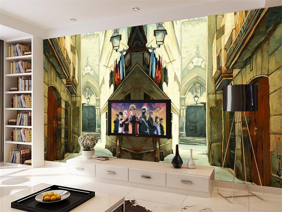 Custom 3d Photo Wallpaper Room Mural Europe Rustic Wood Carving Landscape Photo Sofa Tv Background Non-woven Hd Photo Wallpaper Home Improvement