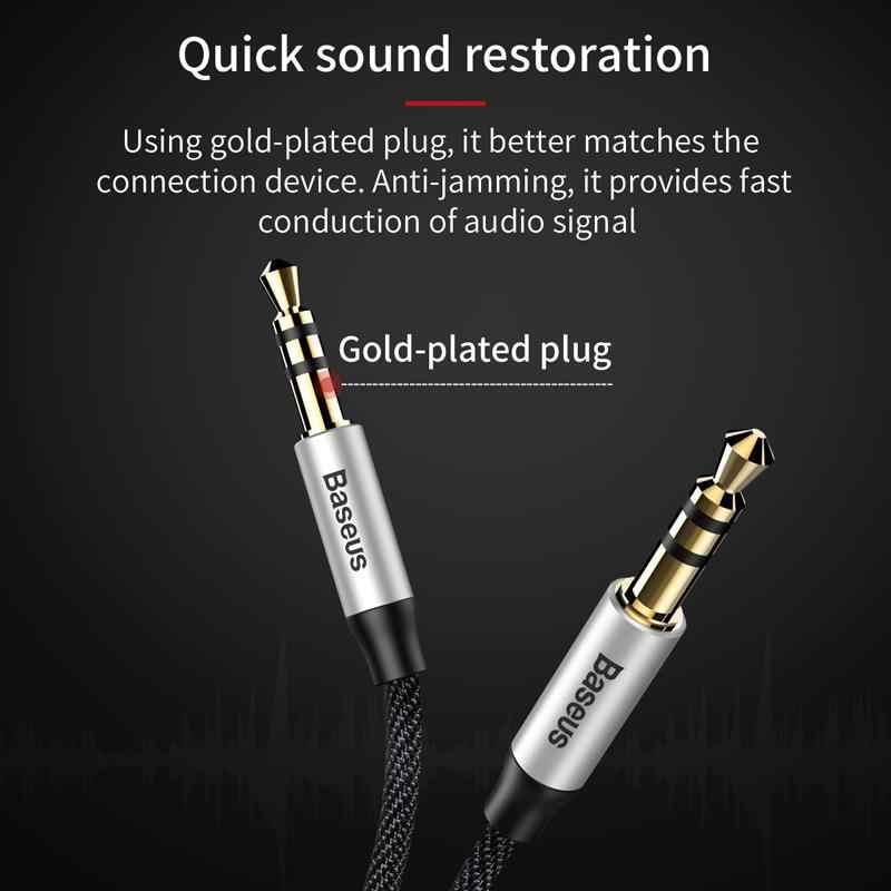 Baseus 3.5mm jack cabo de áudio jack 3.5mm macho para macho áudio aux cabo para samsung s10 carro fone de ouvido alto-falante linha fio aux cabo