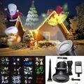 AU/REINO UNIDO/UE/EUA Plug 12 Padrão À Prova D' Água LED Paisagem Luz Em Movimento A Laser Estágio Luz Do Projetor Ao Ar Livre luz Decoração Do Natal