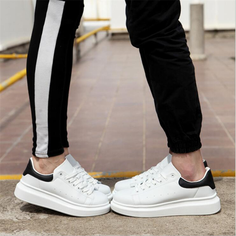 new 2018 spring fashion women casual shoes leather platform shoes women sneakers Ladies white Trainers chaussure femme 36 44