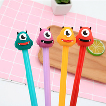 4 pcs/Lot cute Wax gourd head Gel Pen Promotional Gift Stationery Kawaii School Office supplies children Neutral pen Gifts