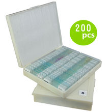 Microscope Slices Specimens Animals and Plants Tissue Cells Experimental Samples 200 pcs Slides Popular science supplies