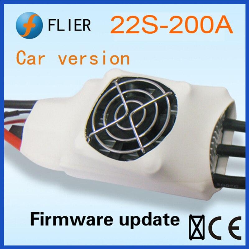FATJAY FLIER 200A 4 22 วินาที ESC brushless speed controller พร้อมสาย USB สำหรับ RC รถ-ใน ชิ้นส่วนและอุปกรณ์เสริม จาก ของเล่นและงานอดิเรก บน   1