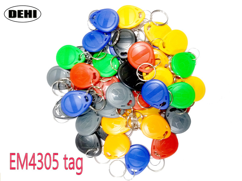 50pcs/Lot EM4305 T5577 RFID Tags 125KHz Copy Rewritable RFID Tag Copy Card Rewrite Duplicate Keyfobs Ring