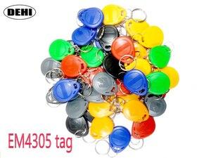 Image 1 - 50pcs/Lot EM4305 T5577 RFID Tags 125KHz Copy Rewritable RFID Tag Copy Card Rewrite Duplicate Keyfobs Ring