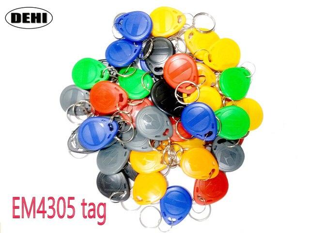 50pcs/Lot EM4305 T5577 RFID Tags 125KHz Copy Rewritable RFID Tag Copy Card Rewrite Duplicate Keyfobs Ring