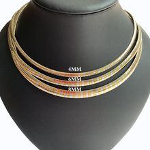 Женское колье из нержавеющей стали воротник цепи ожерелье золотое