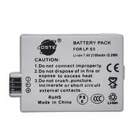 DSTE 2100mAh 7.4V LP-E5 LPE5 Camera Battery for Canon 450D 500D 1000D Kiss Digital X2 X3 F Rebel XSi Xli XS