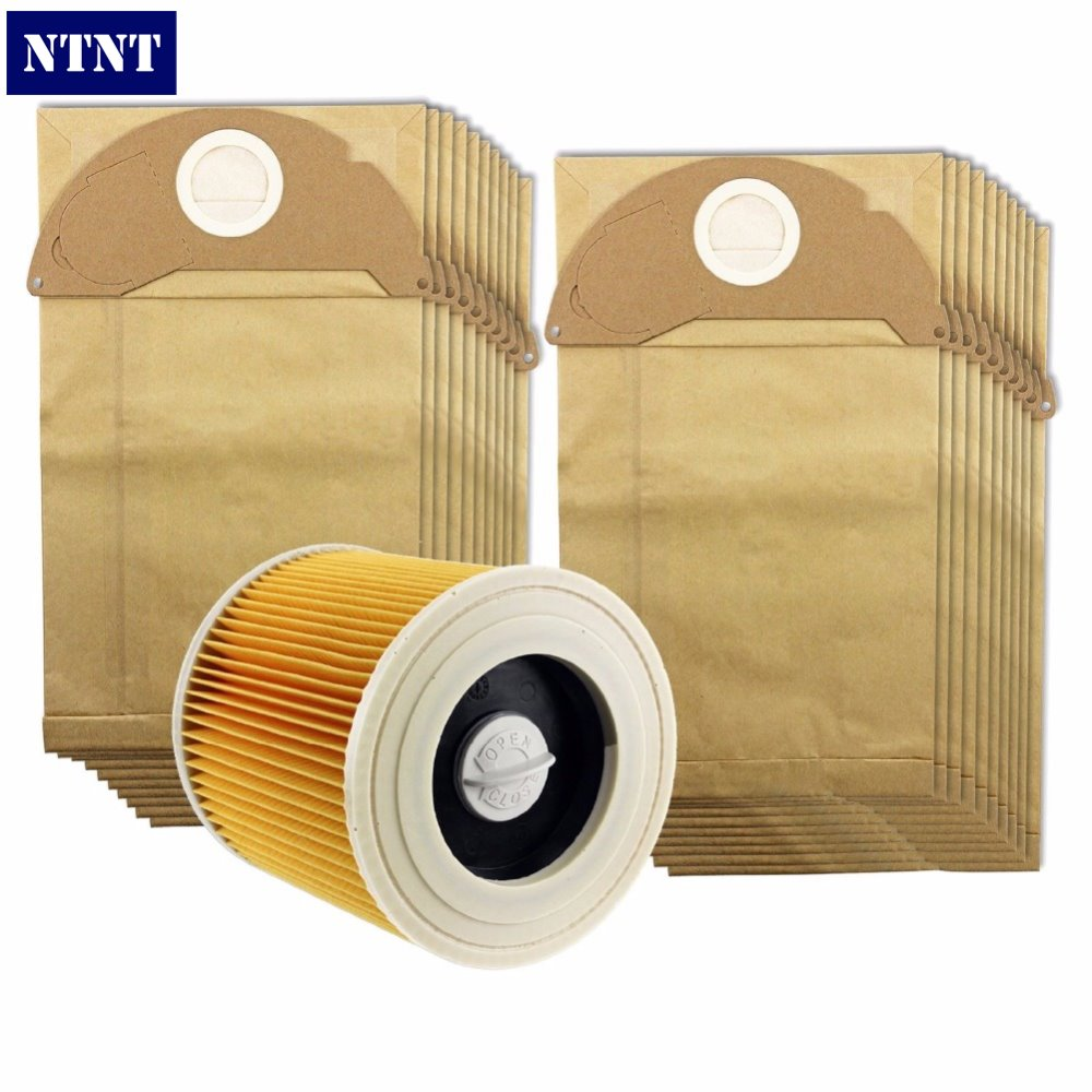 NTNT Free Post New 20X dust bag & Filter Kit for Karcher A2054 and A2064 Vacuum Cleaner + 1 Filter ntnt free post new 15 pcs dust bag and 1x filter kit for karcher vacuum cleaner a2054 a2064 15 bags