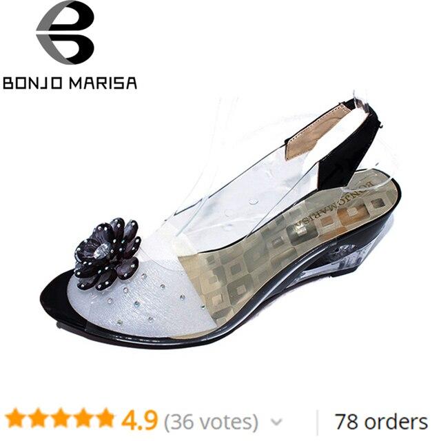 6799fda3d3 BONJOMARISA 34-43 Grande Tamanho Preço de Fábrica Roma elegante moda de  alta qualidade sandálias