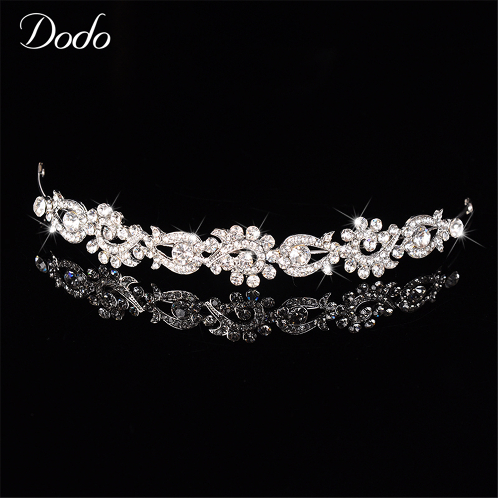 Austrian crystal vintage rhinestone wedding hair accessories tiara Bridal crown headpiece Bridesmaid headdresses princess dress