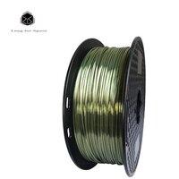 SJLUHS Silk Bronze 1.75mm 3D Printer Filament 1KG 3D Print Material Metal Feel PLA