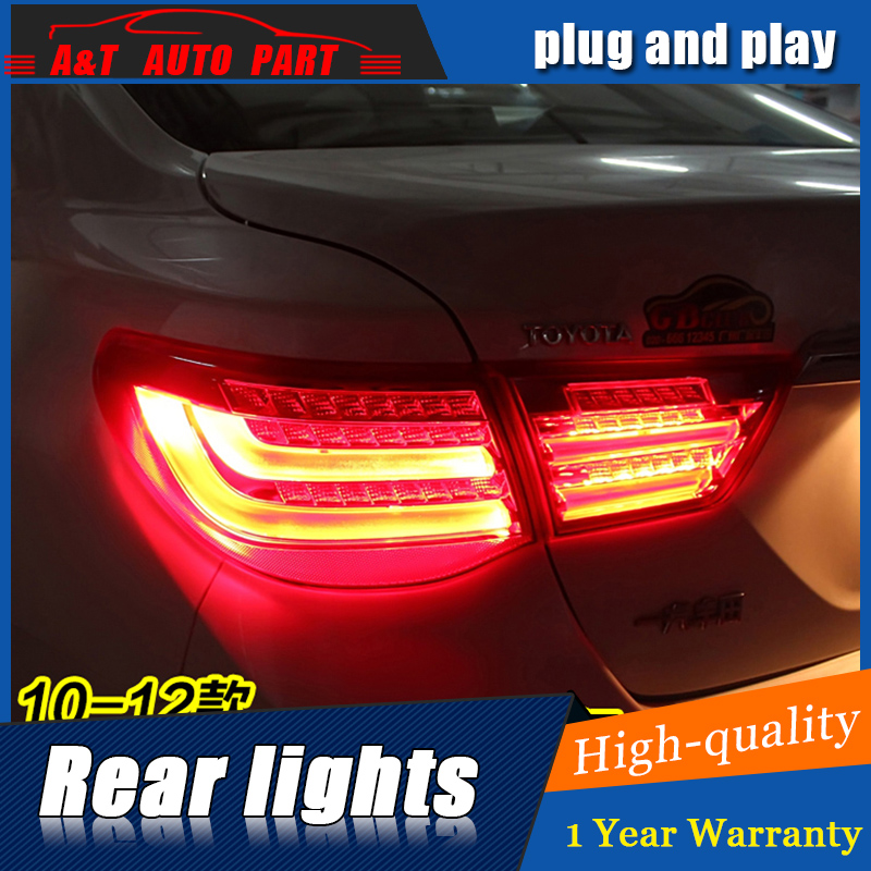 ФОТО Car Styling LED Tail Lamp for Toyota MARK Tail Lights 2010-2012 For Reiz Rear Light DRL+Turn Signal+Brake+Reverse LED light