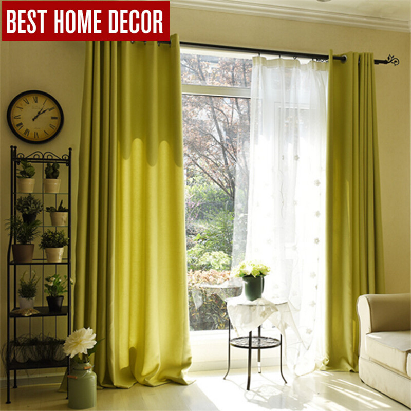 BHD Tailor Made Solid Modern Blackout Curtains For Window Blinds Shading Living