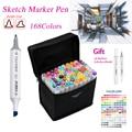TOUCHNEW 30/40/60/80 Colors Artist Dual Headed Marker Set Animation Manga Design School Drawing Sketch Marker Pen Art Supplies