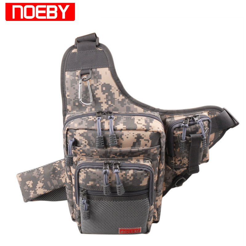 NOEBY Fishing Bag 23X18X8cm 420D PVC Multifunctional Waist Pack Fishing Tackle Bagpack Bolsa Pesca
