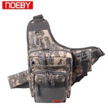 NOEBY Fishing Bag 23X18X8cm 420D PVC Multifunctional Waist Pack Fishing Tackle Bagpack Bolsa Pesca