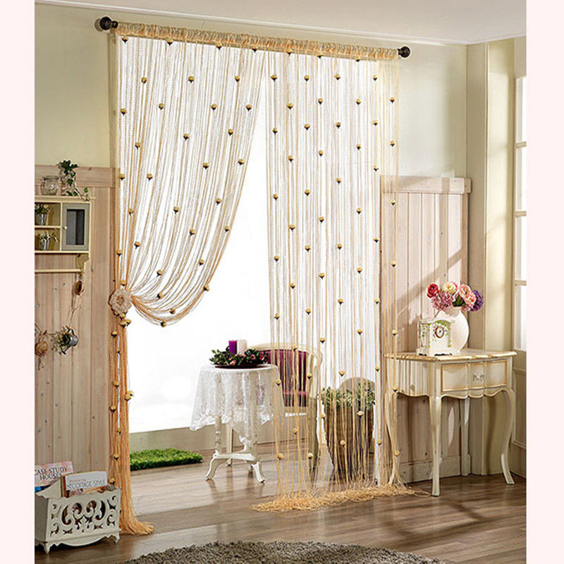 100*200cm Rose Curtain Romantic Rose Floral String Flower Design Tassel  Curtain Decor Door Window Room Divider In Curtains From Home U0026 Garden On ...