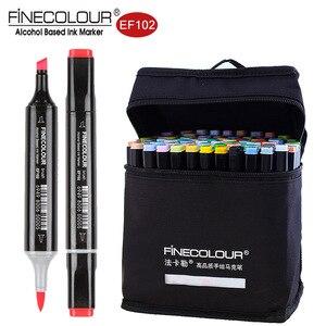 Художественные маркеры Finecolour EF102 с двойным наконечником, 36/72/160 мягкие фломастеры с наконечником для рисования, для дизайна одежды, интерьер...