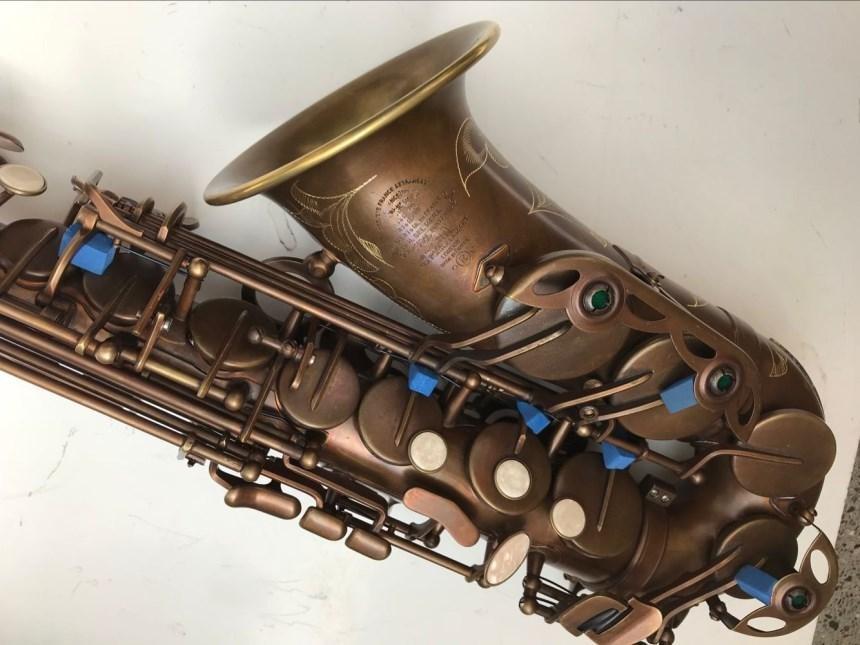 Nueva llegada Mark VI saxofón Alto profesional e-flat único Retro instrumento de música boquilla con funda envío gratis