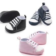 Classical Baby First Walkers PU Material Cool Baby Shoes First Step Walking Prewalker for Newborn Boys Girls Toddlers Gifts New cheap insular Patch COTTON All seasons Slip-On Solid Unisex Fits true to size take your normal size Support casual simple cute