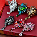"2015 New Arrival ! Wholesale Fashion Jewelry 3.5"" Square Glass Crystal and Rhinestones Water Drop Large Brooch"