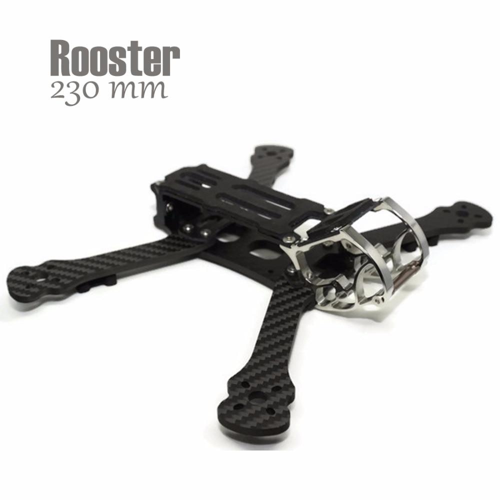 PRE-SALE Rooster 230mm 125 grams 4mm Aluminum Hardware cage Quadcopter frame