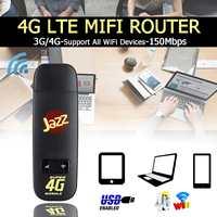 LEORY 3g 4G WiFi роутер USB LTE высокоскоростной 150 Мбит/с модем беспроводной маршрутизатор на точке доступа SIM карта мини для путешествий автомобиля ...