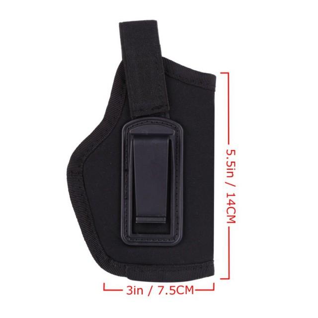 new  Hunting Pistol Black Holster EVA Styrofoam with Plastic Clips Nice Hidden Tactical Waist Sheath Durable Right Hand