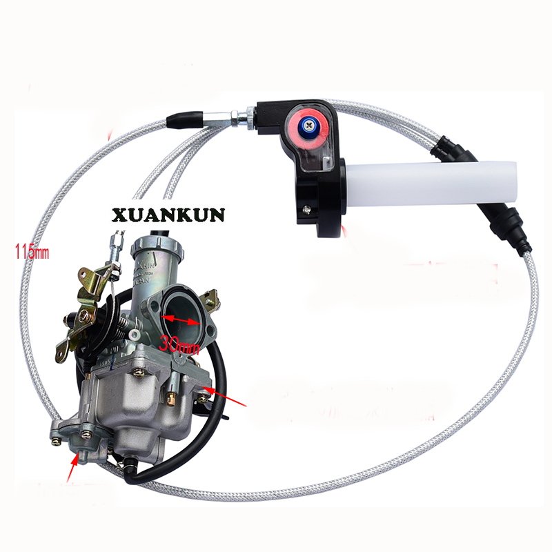 XUANKUN Off - Road Motorcycle Modified 200-250CC Accelerator Pump Carburetor Visual Turn To Accelerate The Pump Throttle Line jgx 3 4860z 60a 40 480vac 4 32vdc dc to ac three phase solid state relay ssr relay free shipping
