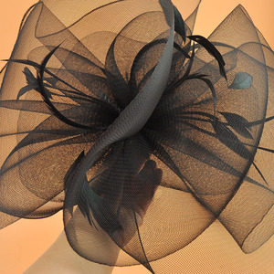 Image 5 - 2018 Model catwalk headwear super large size women hair accessories carnival hairpin women cocktail fascinator 17 colors